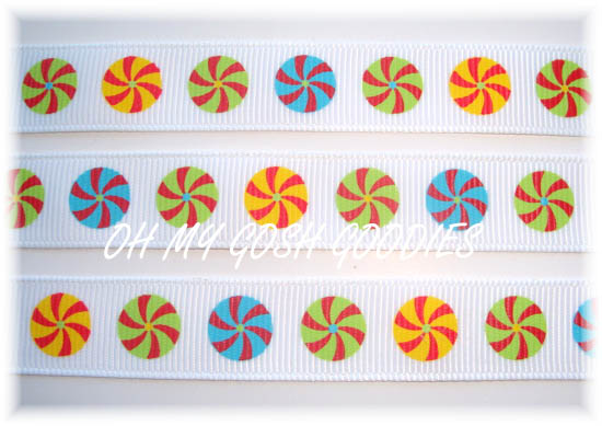 5/8 PINWHEEL CANDY - 5 YARDS