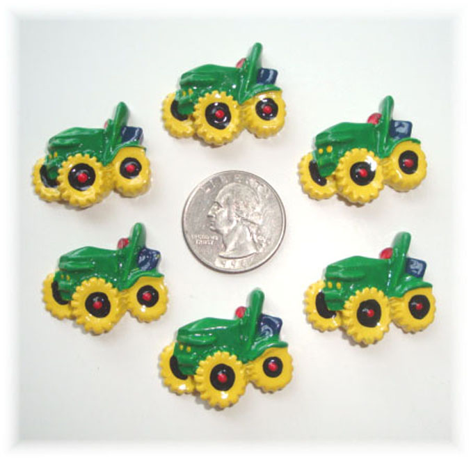 2PC BIG GREEN TRACTOR RESINS