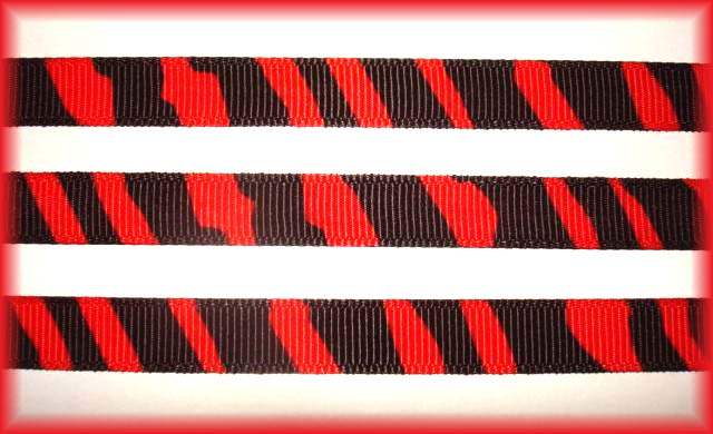 3/8 OOAK RED BLACK ZEBRA - 5 3/4 YARDS
