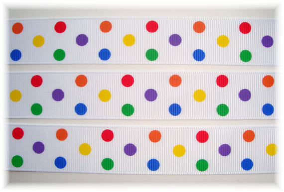 7/8 PRIMARY CANDY  DOTS - 5 YARDS