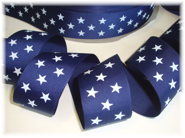 "STAR JULY 4TH MEMORIAL 7//8/"" RED Grosgrain Ribbon 1,3,5,10 YD HAIR BOW"