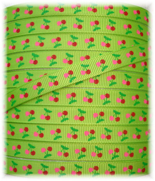 3/8 SO CHERRY BABY LIME - 5 YARDS