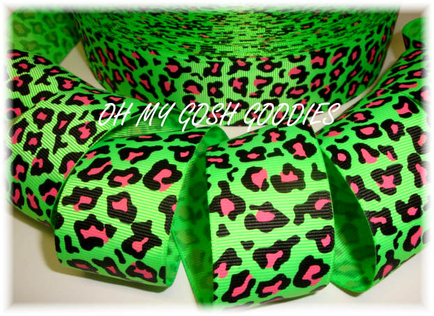 1.5 OOAK LIME NEON LEOPARD - 3 YARDS