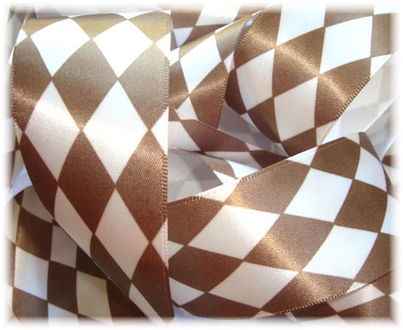 1.5 SATIN BROWN JESTER - 5 YARDS