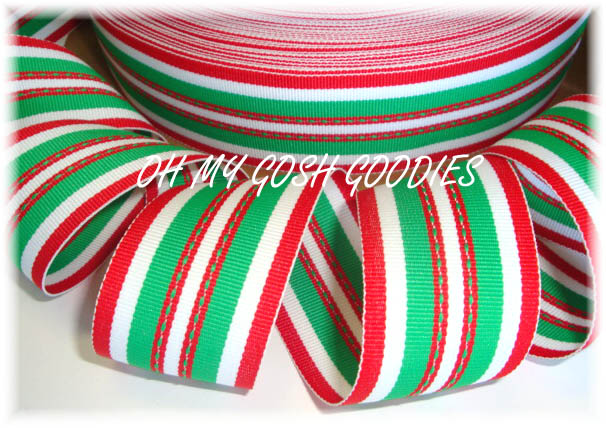 1.5 OOAK RED GREEN HOLIDAY STITCH  - 4 1/3 REMNANT YARDS