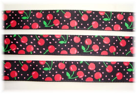 5/8 BLACK SO VERY CHERRY - 5 YARDS