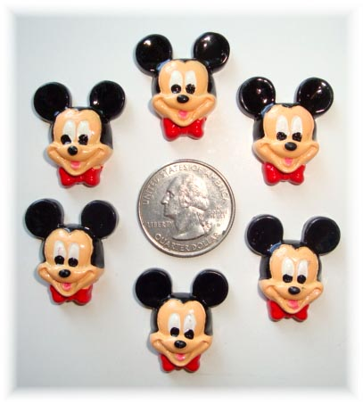 2PC MICKEY FACE RESINS