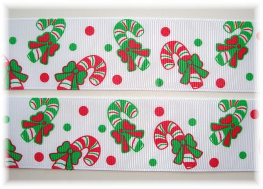 1.5 PEPPERMINT CANDY CANES - 5 YARDS