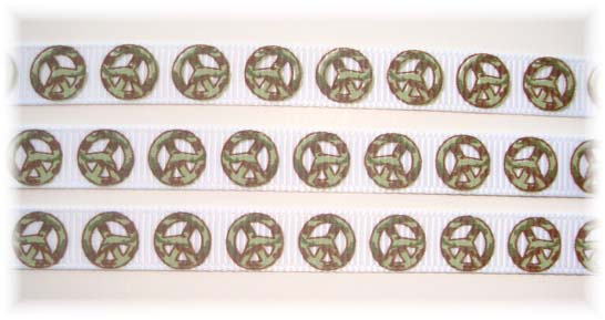 3/8 CAMO PEACE WHITE - 5 YARDS