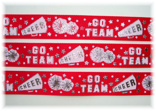 7/8 CHEER SPIRIT BLING RED SILVER - 5 YARDS
