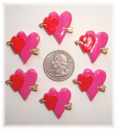 2PC CUPID HEART RESINS