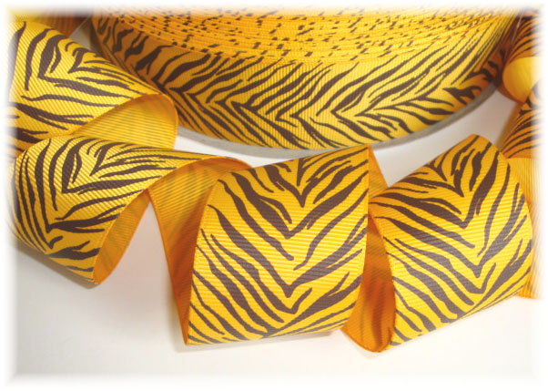 1.5 TIGER STRIPES YELLOW GOLD  - 5 YARDS