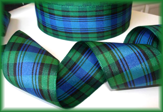 1.5 OOAK GREEN ROYAL PREPPY TARTAIN PLAID - 4 1/2 REMNANT YARDS