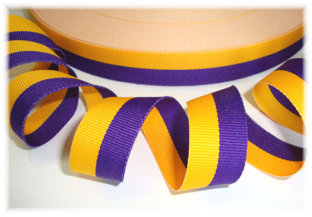 "5 Yards SALE Orange Yellow Striped Ribbon 1/""W"