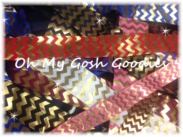 GOODY BAG METALLIC GOLD CHEVRON - 50+ YARDS