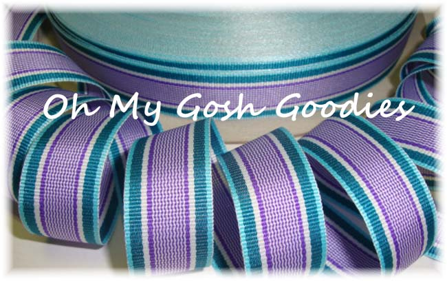7/8 C28 ORCHID PREPPY STRIPE - 5 YARDS