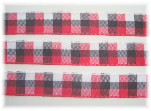 5/8 OFFRAY SEABREEZE RED CHECK - 5 YARDS