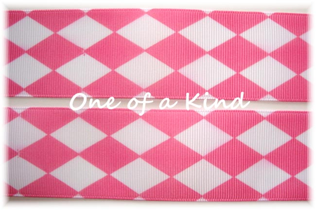 1.5 OOAK HOT PINK WHITE JESTER - 5 YARDS