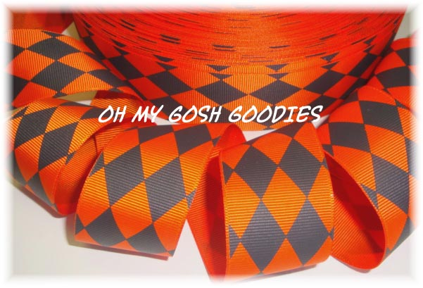 1.5 ORANGE / BLACK JESTER - 5 YARDS