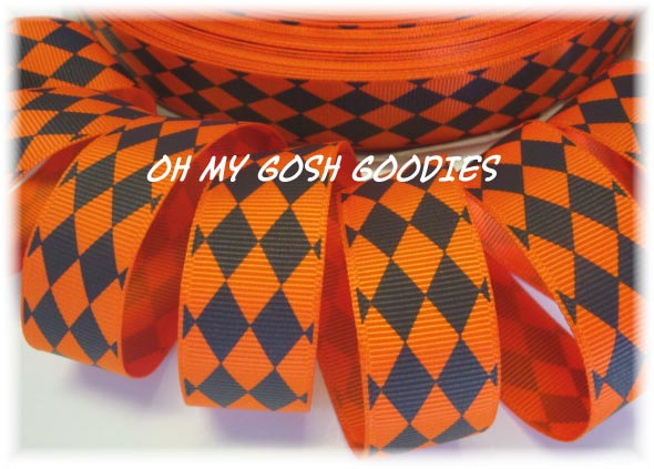 7/8 ORANGE / BLACK JESTER - 5 YARDS