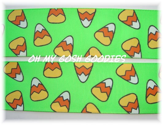 1.5 CANDY CORN CHEVRON LIME - 5 YARDS