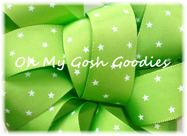 1.5 LIME WHITE STARS LIMITED - 5 YARDS