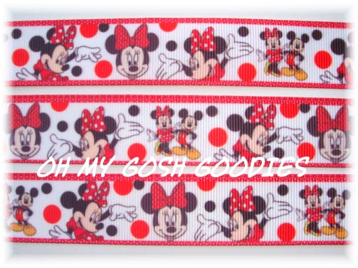 7/8 MARVELOUS MINNIE RED - 5 YARDS