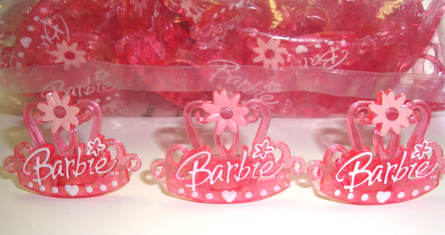 12PC LICENSED BARBIE CUPCAKE RINGS FOR HAIRBOWS
