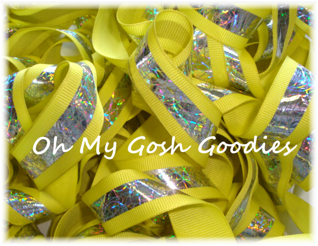 "1"" OOAK OFFRAY REFLECTIVE RIBBON - 5 YARDS"