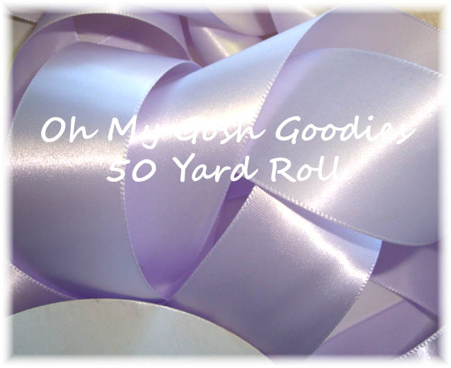 1.5 EASTER OFFRAY LILAC MIST SATIN - 50 YARD ROLL