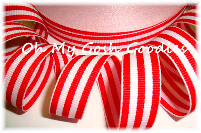 5/8 RED WHITE PATRIOTIC PIN STRIPE - 5 YARDS