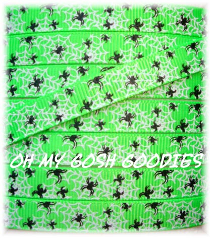 3/8 ITTY BITTY SPIDER WEBS LIME - 5 YARDS