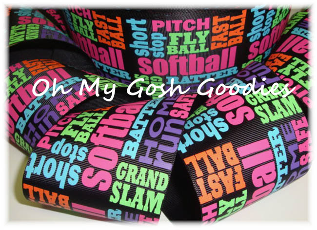 "3"" JUST SAYIN SOFTBALL BLACK - 5 YARDS"