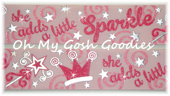 1.5 SHE ADDS SPARKLE PRINCESS PINK - 5 YARDS