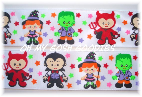 1.5 LIL MONSTERS DRACULA DEVIL WITCH FRANKENSTEIN - 5 YARDS