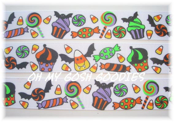 7/8 HALLOWEEN SWEET TREAT CANDY - 5 YARDS