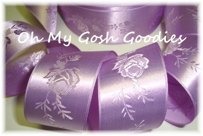 1.5 OFFRAY OMBRE ROSE LAVENDER WEDDING SATIN - 5 YARDS