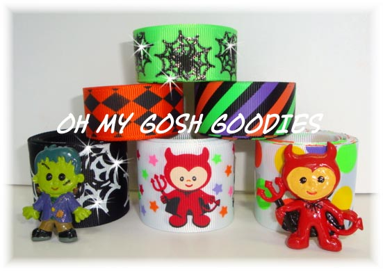 LIL MONSTER DEVIL & FRANKENSTEIN RIBBON MIX