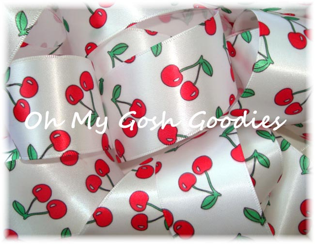 ** 7/8 ** SALE RED CHERRY SATIN VENUS - 5 YARDS
