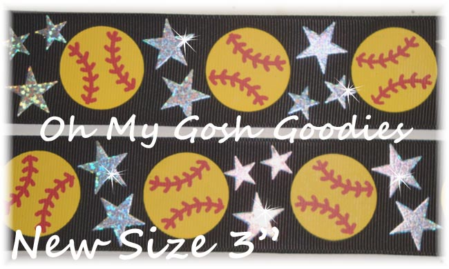 "3"" STAR SOFTBALL HOLOGRAM BLACK - 5 YARDS"