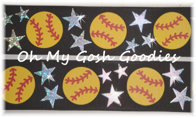 2 1/4 STAR SOFTBALL HOLOGRAM BLACK - 5 YARDS