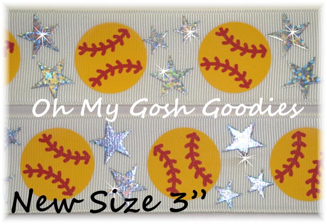 "3"" STAR SOFTBALL HOLOGRAM WHITE - 5 YARDS"