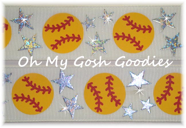 2 1/4 STAR SOFTBALL HOLOGRAM WHITE - 5 YARDS