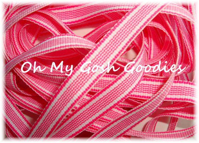 3/8 MIAMI WAVE PINK STRIPE - 5 YARDS