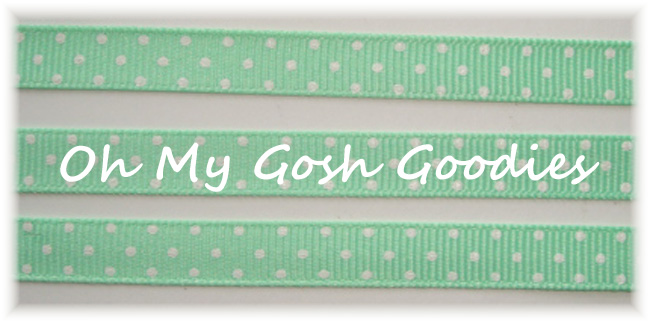 3/8 MINT WHITE SWISS DOTS - 5 YARDS