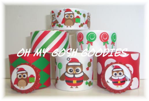 CHRISTMAS CANDY HOOTS RIBBON MIX