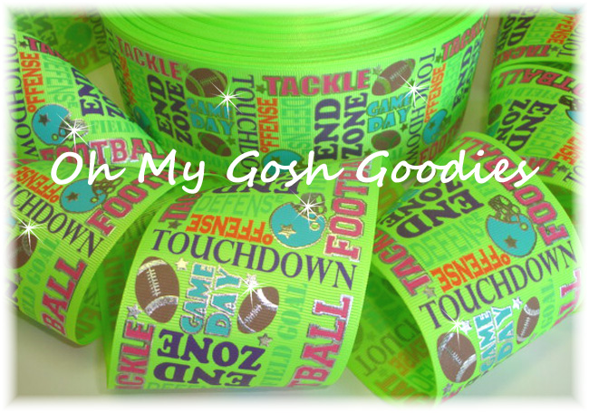 "3"" JUST SAYIN FOOTBALL NEON YELLOW - 5 YARDS"