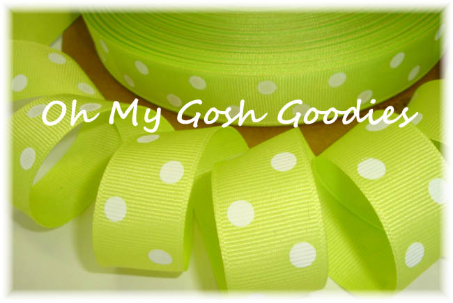7/8 SALE CLASSIC POLKA DOTS CITRUS WHITE - 5 YARDS