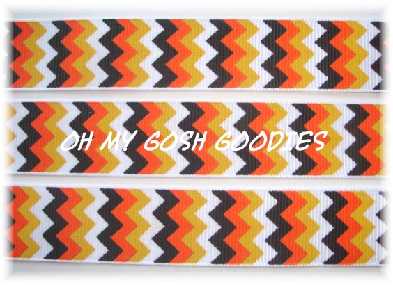 7/8 WICKED CANDY CORN CHEVRON - 5 YARDS
