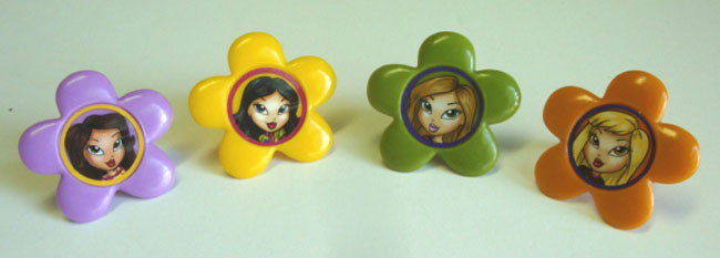 12PC LICENSED BRATZ CUPCAKE RINGS FOR HAIRBOWS